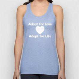 Adopt for Love Adopt for Life Awareness T-Shirt Unisex Tank Top