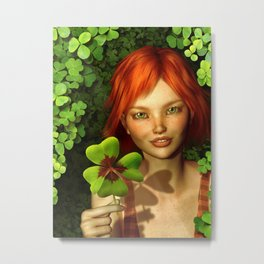 Lucky Charm Fairy Metal Print