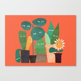 The plants are watching (paranoidos maximucho) Canvas Print