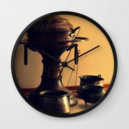 old copper brazier Wall Clock