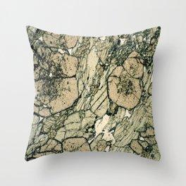 Garnet Crystals Throw Pillow