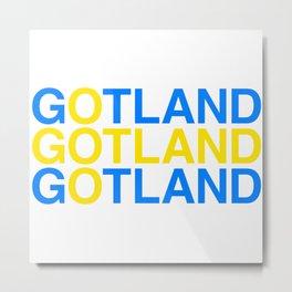 GOTLAND Swedish Flag Metal Print