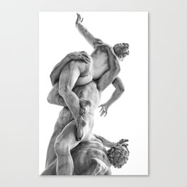 The robbery of the Sabineers of Giambologna Canvas Print