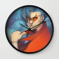 gurren lagann Wall Clocks featuring Pierce the Heavens! by Zaley