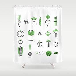 Vegetables set Shower Curtain