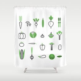 Vegetables set Shower Curtain