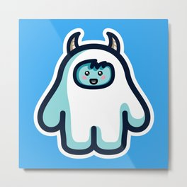 Kawaii Cute Abominable Snowman Yeti Metal Print