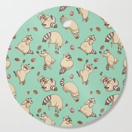Raccoons Love Cutting Board