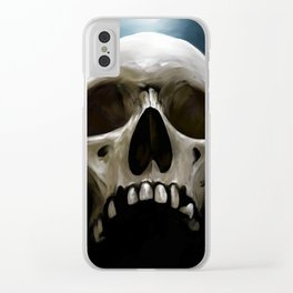 Skull 13 Clear iPhone Case