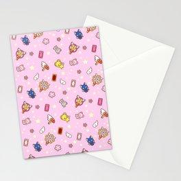 cardcaptor sakura pattern pink Stationery Cards