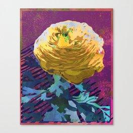 Yellow Ranunculus Buttercup Floral Art Canvas Print