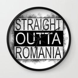 Straight outta Romania Wall Clock