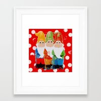 gnome Framed Art Prints featuring Gnome by BLOOP