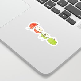 Apple Halves Sticker