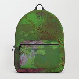 Galveston Texas Street Map Art Watercolor Green Planet Backpack