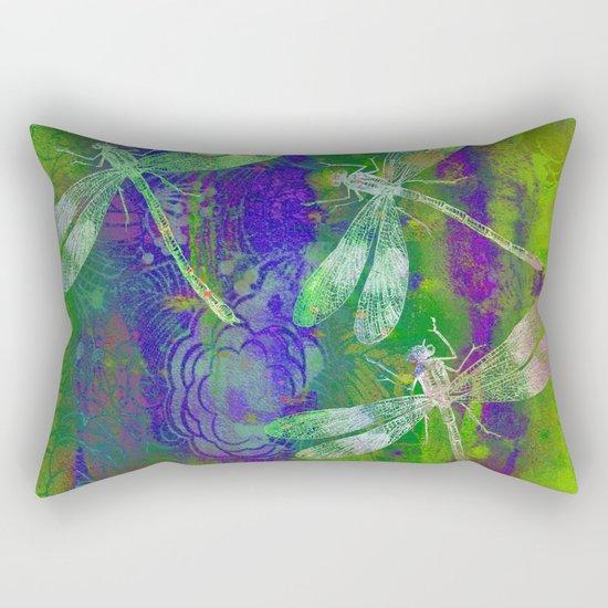A Dragonflies QD Rectangular Pillow