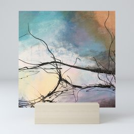 Heaven and Hell Abstract Painting by Jodi Tomer Cloudy Painting Sticks Mini Art Print