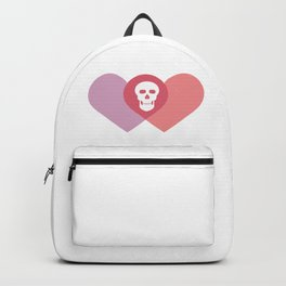 Skull and two heart #society6 #decor #buyart #artprint Backpack