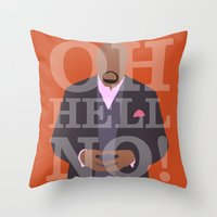 pushing daisies Throw Pillows featuring Pushing Daisies - Emerson by MacGuffin Designs