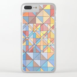 Triangle Pattern no.16 Pastels Clear iPhone Case