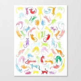 Neon Kittens Canvas Print