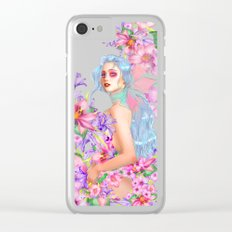 Lily Pink Clear iPhone Case