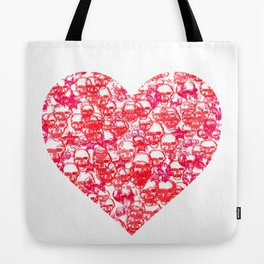 Skull Heart Tote Bag