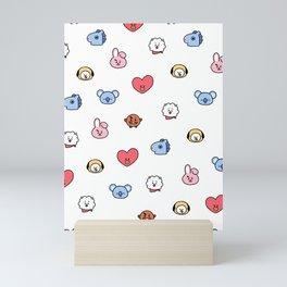 BT21 Sketched Pattern Mini Art Print