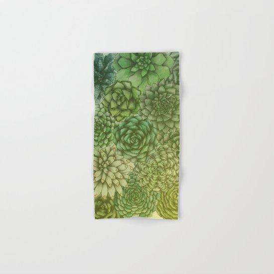 Hazy Succulents Hand & Bath Towel
