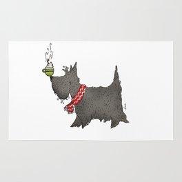 Scottie Hot Cocoa Dog Rug