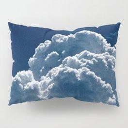 Puffy Cumulus clouds on Deep Blue Sky Pillow Sham