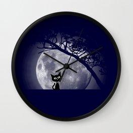 Moon Kat Wall Clock