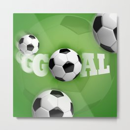 Soccer Ball Football Goal Metal Print
