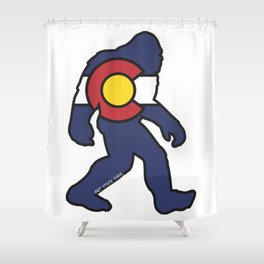 Colorado Bigfoot Shower Curtain
