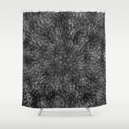 Radial Fur Texture  - Grayscale Shower Curtain