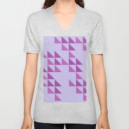 Triangular Continents Unisex V-Neck