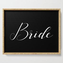 Bride - White on Black Serving Tray