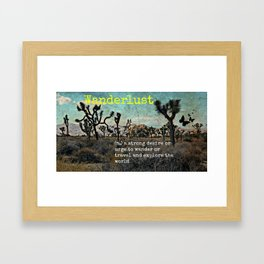Wanderlust In The Wild Travel Quote Framed Art Print