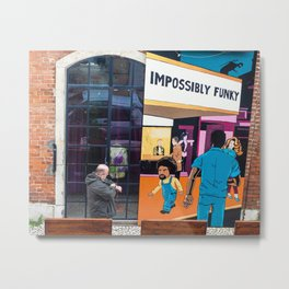 Impossibly Funky Metal Print