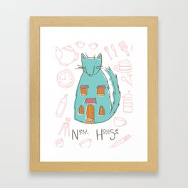 Mrs. Foxwolfhouse-New Home Framed Art Print