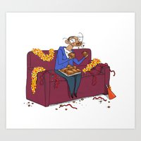 Percy eating appelflappen Art Print