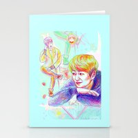 shinee Stationery Cards featuring SHINee Onew by sophillustration
