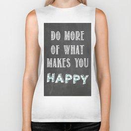 Quote, inspiration chalk board  Biker Tank