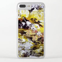 Unicorn in the magic forest, acrylic on canvas, abstract Clear iPhone Case
