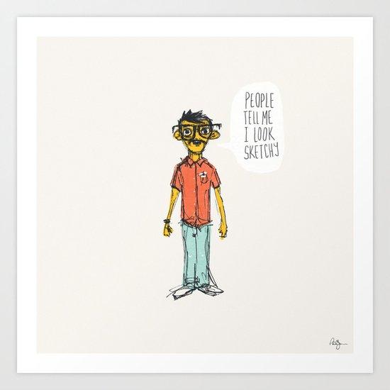 Sketchy Dude Art Print