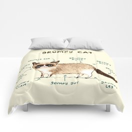 Anatomy of a Grumpy Kitty Comforters