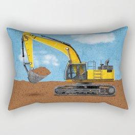 Construction Excavator Rectangular Pillow