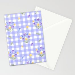 Spring picnic bouquets in Provence blue Stationery Cards