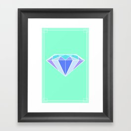 Blue Ice | Diamond Framed Art Print