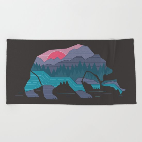 Bear Country Beach Towel